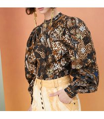 camicetta kalila popeline a stampa batik