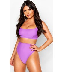 mix & match fuller bust crop bikini top, purple