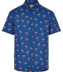 anerkjendt overhemd blauw met print 9220012/3038