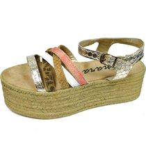 sandalia platino tamara shoes tiras