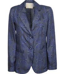 true royal lynn single-breasted printed blazer