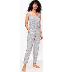 loft striped bow strap pajama romper