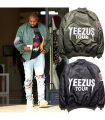 air force camouflage ma1 bomber jacket hip hop yeezus men clothing kanye west