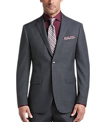 perry ellis premium gray sharkskin slim fit suit