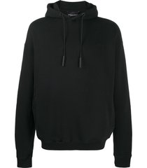 a-cold-wall* logo print slouchy hoodie - black