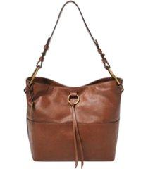 fossil women's ada leather bucket bag