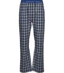 woven pj pants blue check pyjamas blå gant