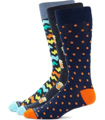 unsimply stitched men's 3-pack printed combo crew socks