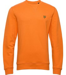 crew neck sweatshirt sweat-shirt trui oranje lyle & scott