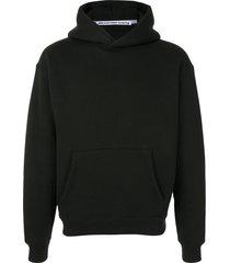 alexander wang long sleeve hoodie - black