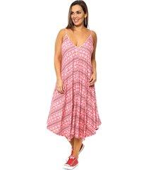 vestido coral vindaloo viscosa