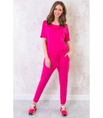 jumpsuit basic fuchsia