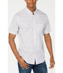 club room men's flamingo print short sleeve shirt, created for macy's