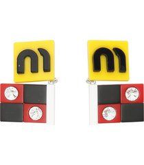 miu miu plexi flag earrings