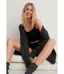 na-kd lingerie croppad pyjamas jerseytopp - black