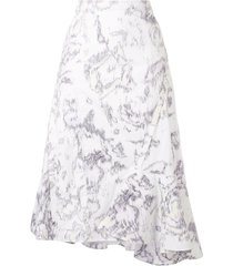 3.1 phillip lim ruffle hem skirt - white