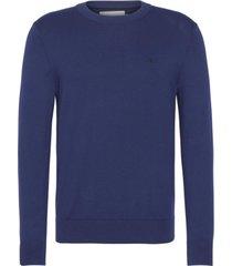 sweater azul calvin klein cotton blend cn embro sweater