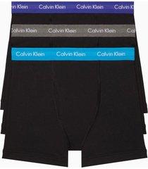 boxer cotton stretch brief 3pk negro calvin klein