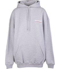 balenciaga woman grey medium fit political campaign hoodie