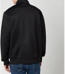 polo ralph lauren men's lux full zip track top - polo black - xxl