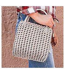 recycled pop-top handbag, 'cute glimmer' (mexico)