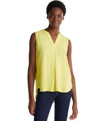 blusa de lenzing ecovero amarillo esprit