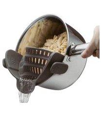 escorredor silicone clipe flexível ajustável cozinha panela pote macarrão legumes