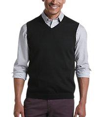 joseph abboud black 37.5® technology v-neck sweater vest