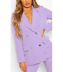 double breasted military blazer, lilac