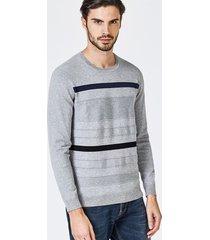sweter w kontrastujące paski