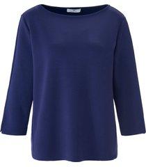 sweatshirt boothals en 3/4-mouwen van peter hahn blauw