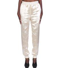 jil sander pants in beige silk