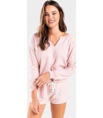 alexia drawstring lounge sweatshirt - blush