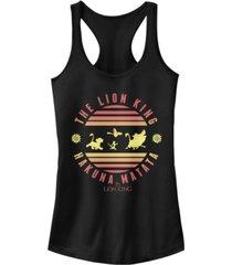 disney juniors' lion king hakuna circle ideal racerback tank top