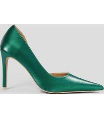 na-kd shoes metallic pumps med utskuren detalj i sidan - green