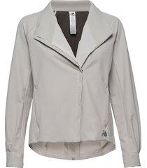 q speed run crew jacket outerwear sport jackets grå new balance