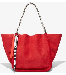 proenza schouler corduroy suede xl tote with rope handles red one size
