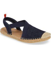 women's sea star beachwear slingback espadrille water shoe, size 11 m - blue