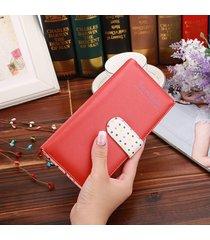 billetera mujeres- perlas colgantes ornamentos lindo-rojo