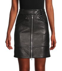zippered leather skirt