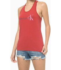 blusa regata feminina nadador ck vermelha calvin klein jeans - p