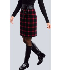 kjol alba moda svart::röd