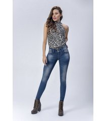pantalón jeans dama azul di bello jeans ® classic jeans ref j123