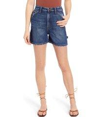 lee high waist carpenter shorts, size 32 in kc blues at nordstrom
