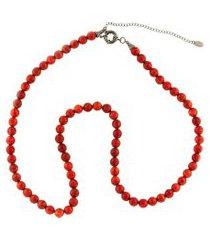 colar la madame co maxi colar vermelho