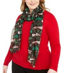 cejon snowman holiday oblong scarf