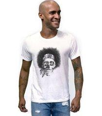 camiseta joss caveira black power masculina