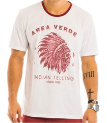 camiseta masculina indian estampada frontal - area verde - multicolorido - masculino - dafiti
