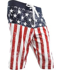 usa distressed american flag patriotic distressed board shorts swim trunks s-3xl