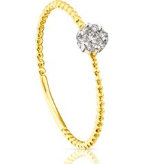 anillo tous brillants de oro con diamantes